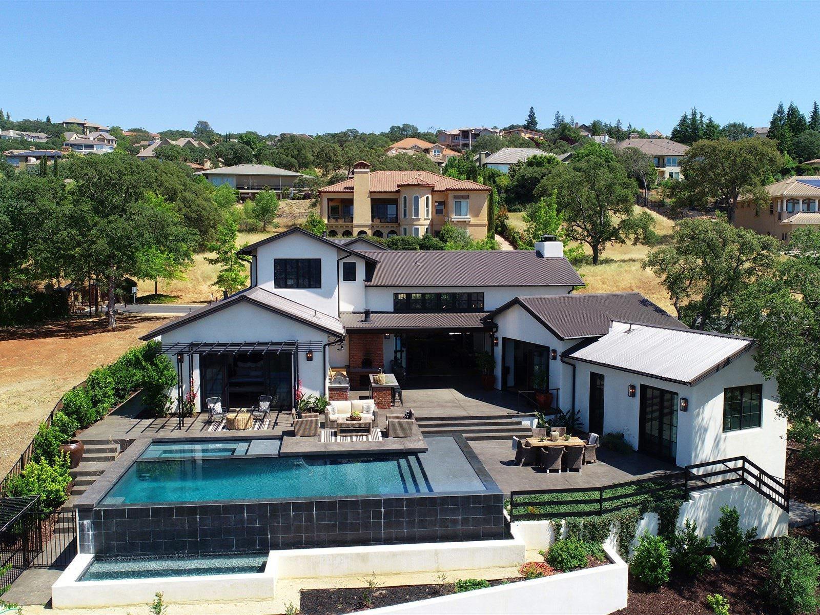 El dorado hills modern farmhouse drone video
